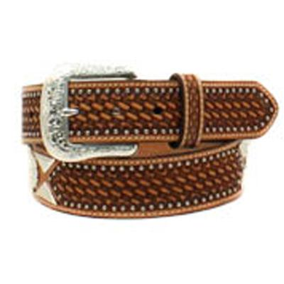 Ariat Men's Basketweave Concho Belt