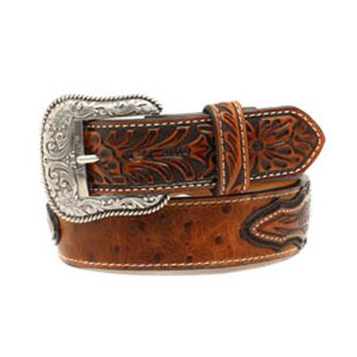Ariat Men's Ostrich Tooled Belt