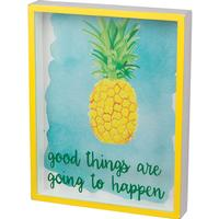 Good Things Pineapple Shadow Box
