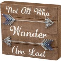 Not All Who Wander String Art