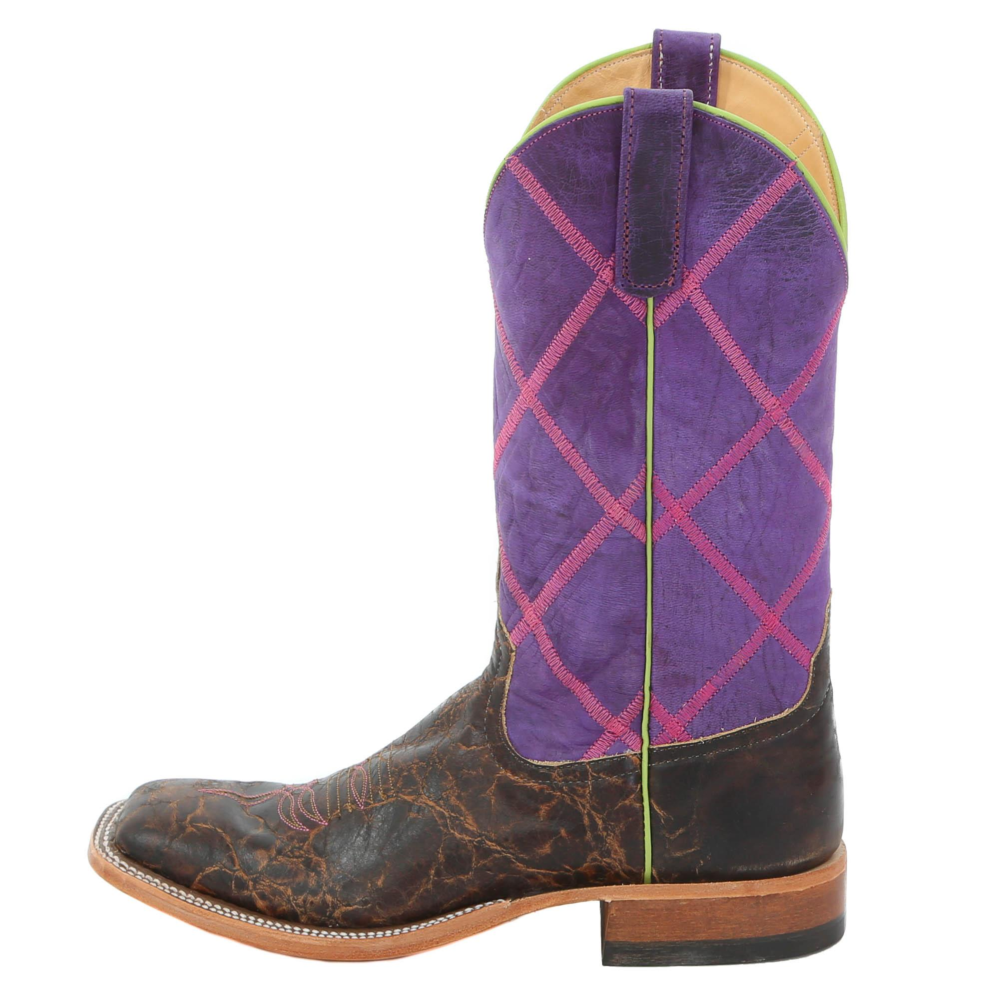 Anderson Bean Women's Purple Diamond Top Cowgirl Boots | D&D