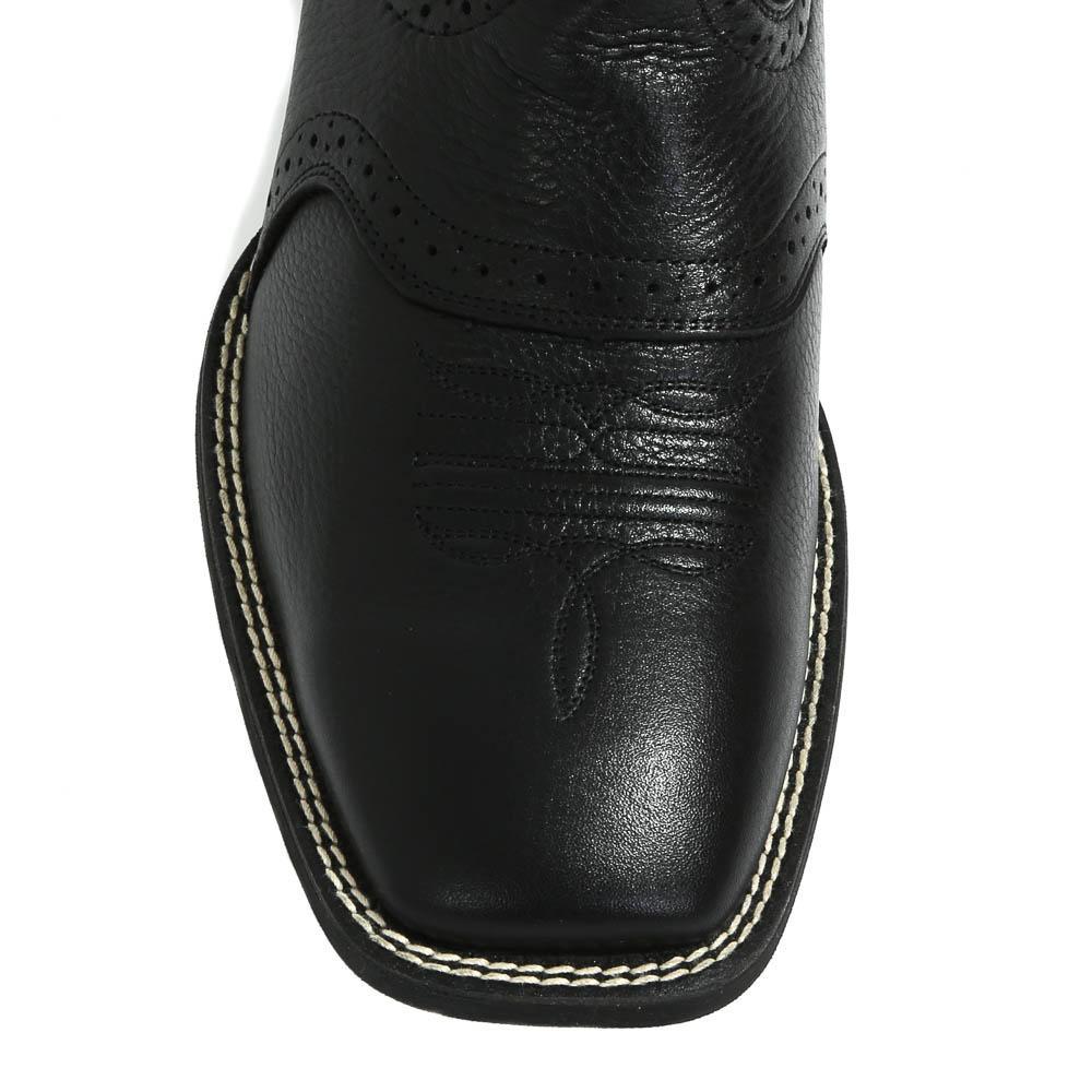 Ariat Men S Sport Black Leather Cowboy Boots