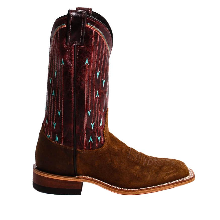 Justin Brown Waxy Cowhide Cowgirl Boots