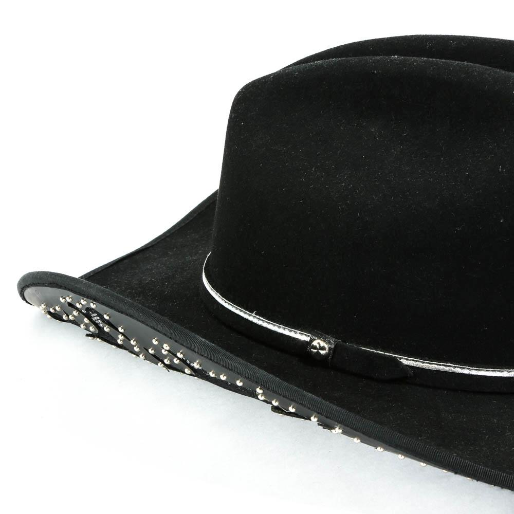 b737512992e Charlie 1 Horse Aztec Black Felt Cowboy Hat