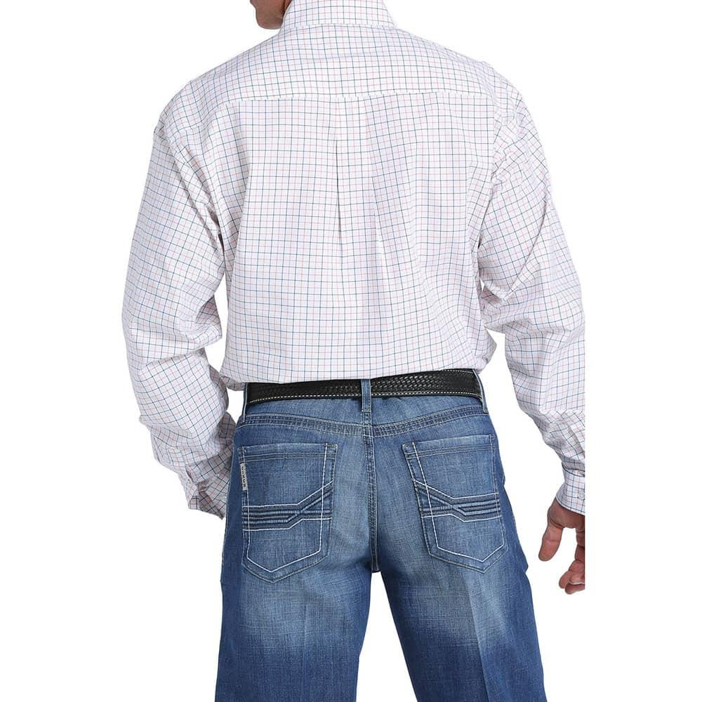 ed710f6f2b Cinch Men s White Orange And Navy Plaid Shirt. Tap to expand · Cinch Men s  Shirt ...