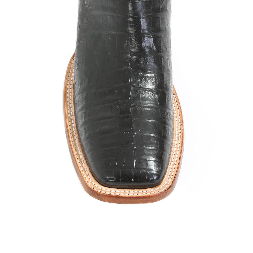 54e935d7fa6 Justin Men's Black Caiman Cowboy Boots