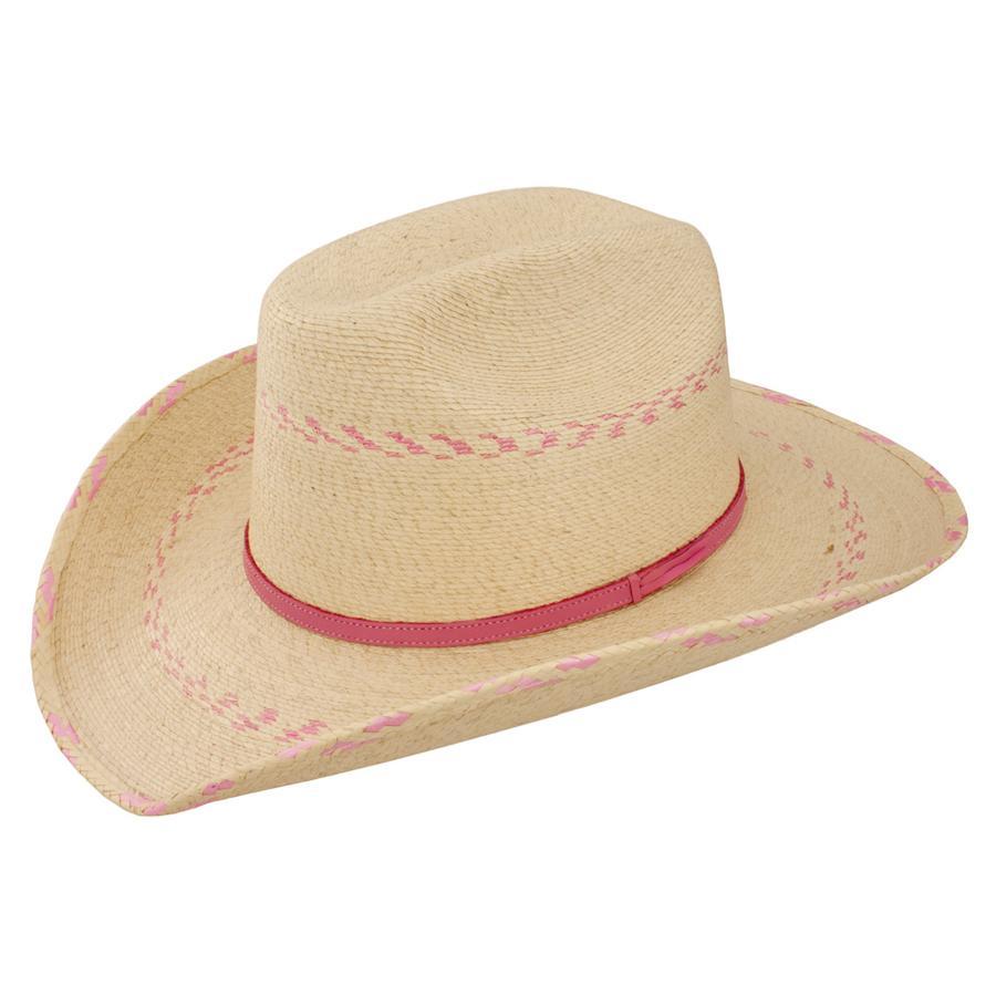 Atwood Kids Palm Pink Pinto Cowboy Hat Item   KIDSPINKPALM ca4705c544c