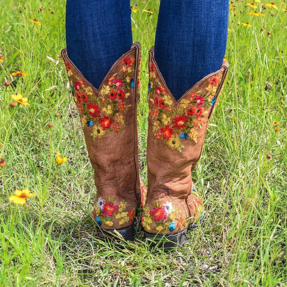 062364c474e Old Gringo Flora Brass Boots