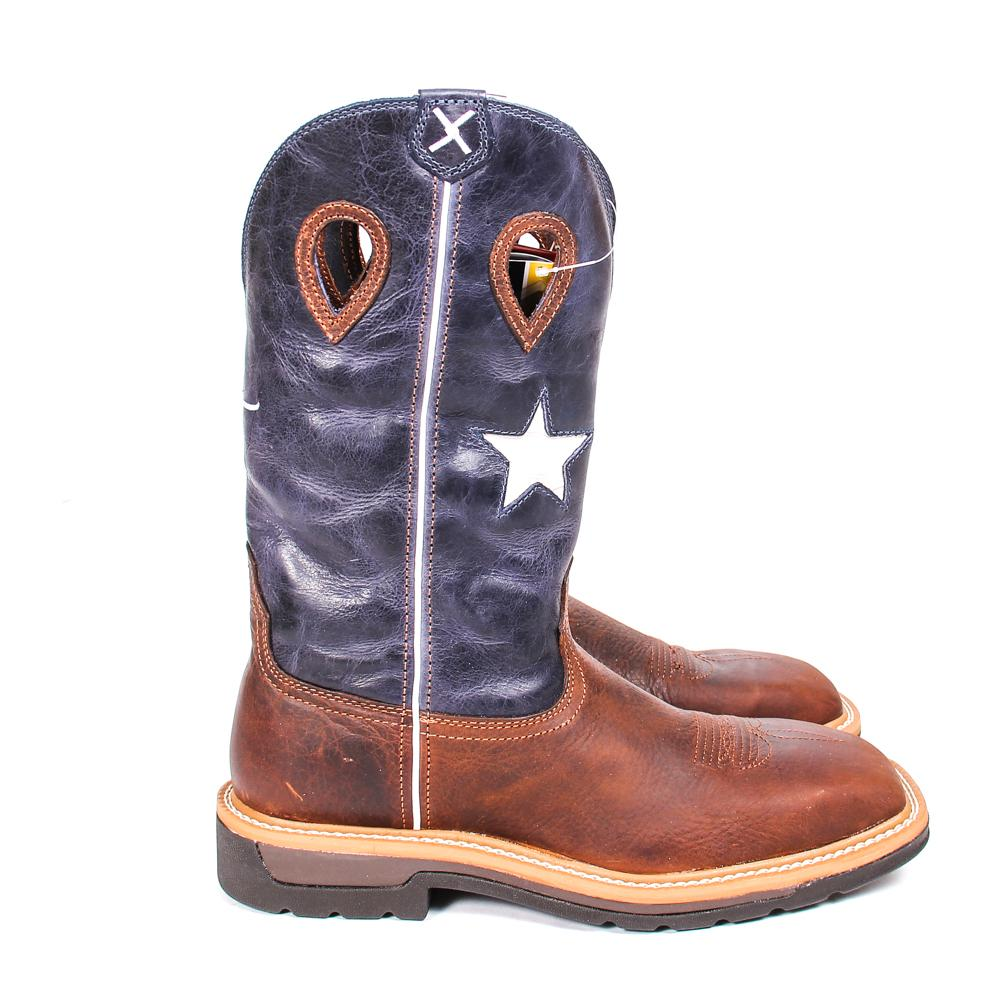 5f96de7292d Twisted X Men's Western Steel Toe Texas Flag