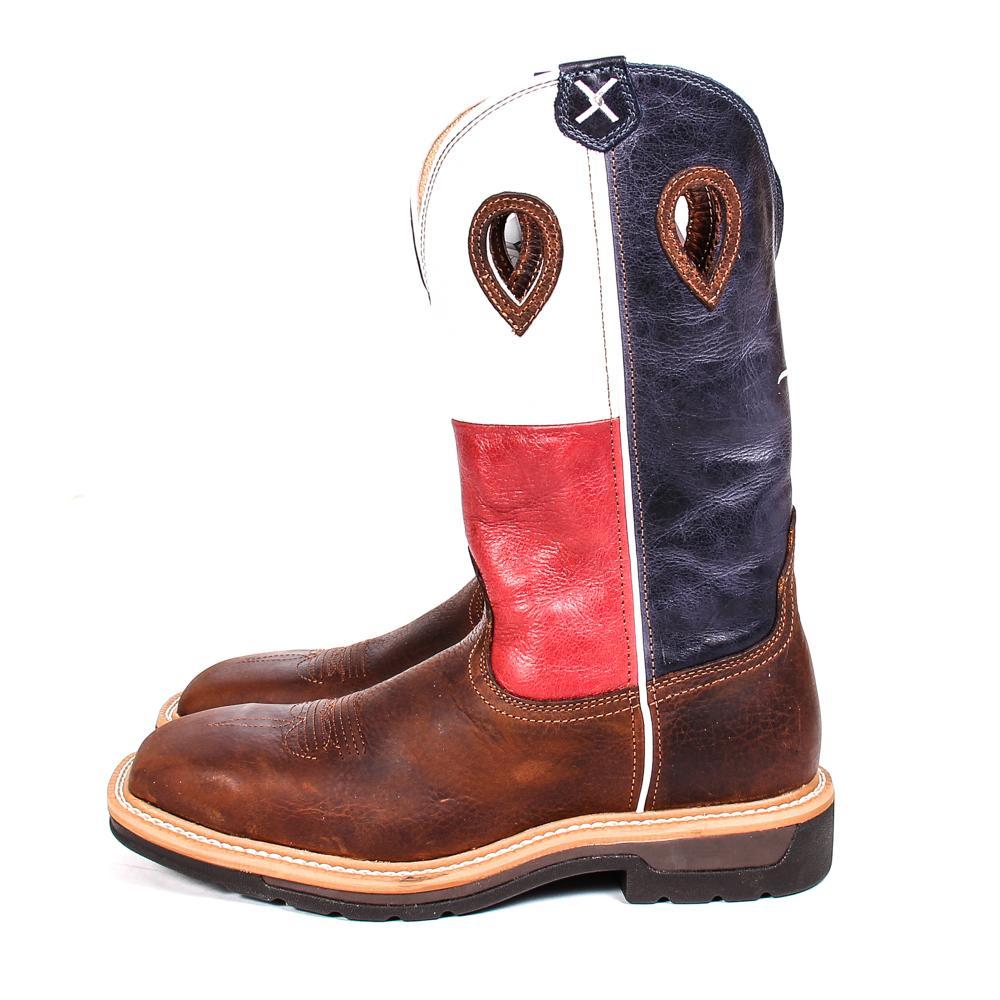 4bfabdf1a7b Twisted X Men's Western Steel Toe Texas Flag