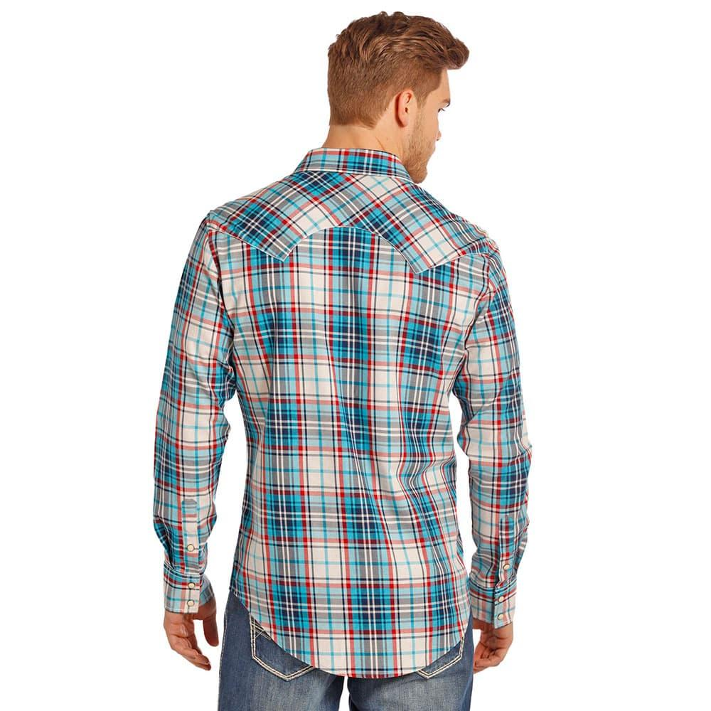 Rock And Roll Mens Brushed Twill Long Sleeve Shirt