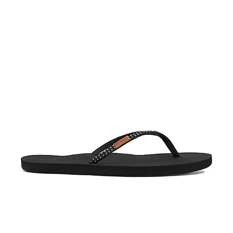 0643107f11876 Reef Women s Black Slim Ginger Stud Sandals
