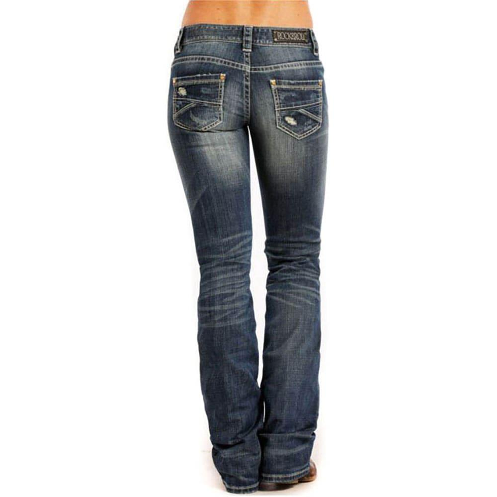Rock and Roll Cowgirl Womenu0026#39;s Low Rise Boot Cut Jeans