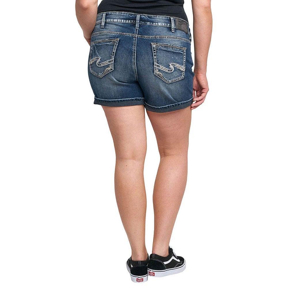 Silver Jeans Women's Plus Size Elyse Jean Shorts | D&D
