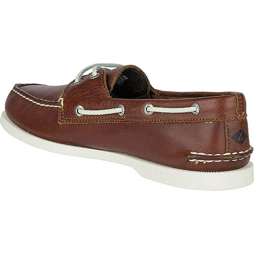 Men S Authentic Original Cross Lace Boat Shoe Brown