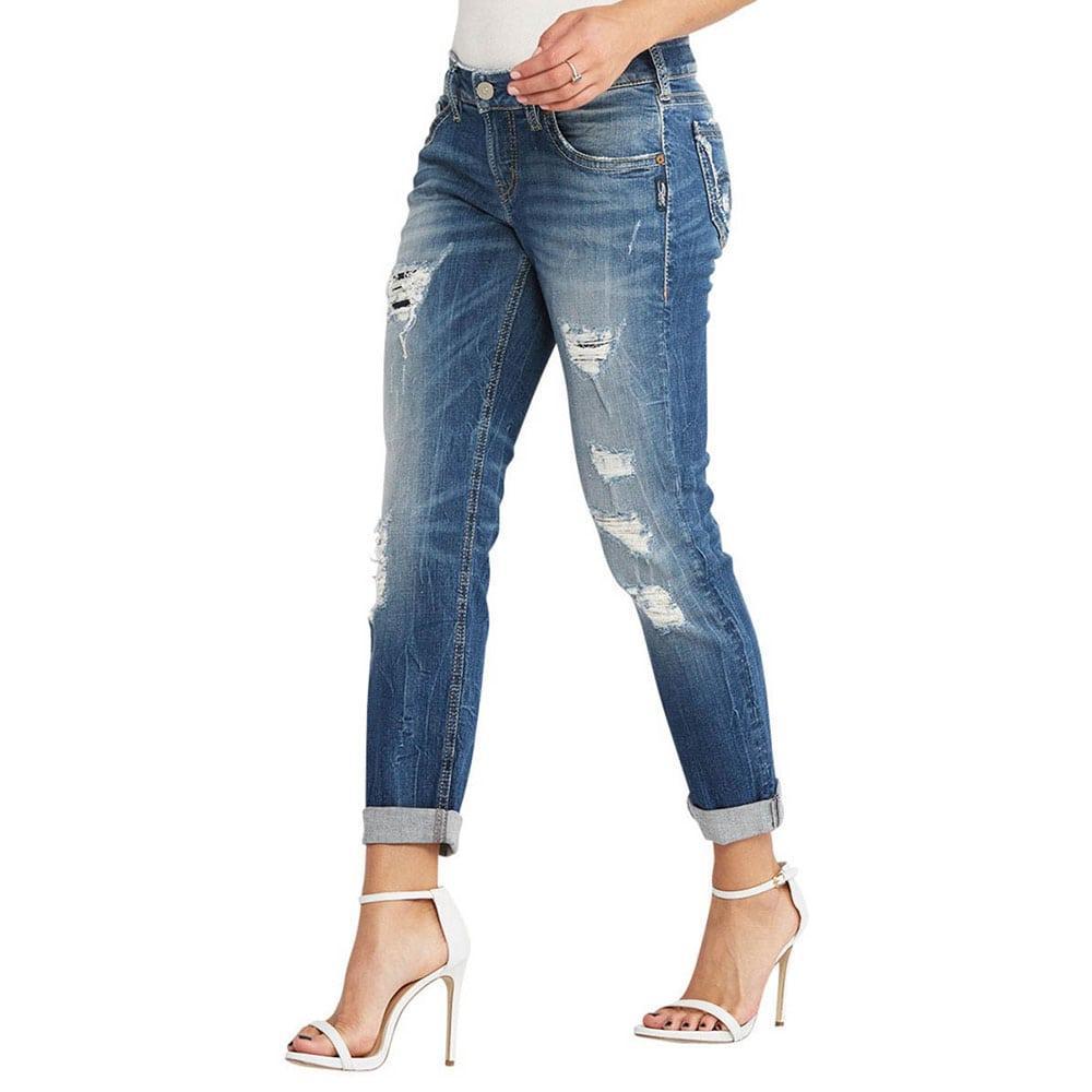 Silver Jeans Women S Sam Slim Boyfriend Jean