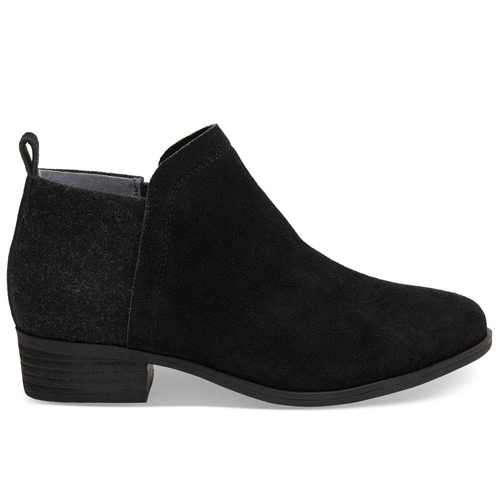 ed5ca59f482 TOMS Women s Black Suede Deia Ankle Boot