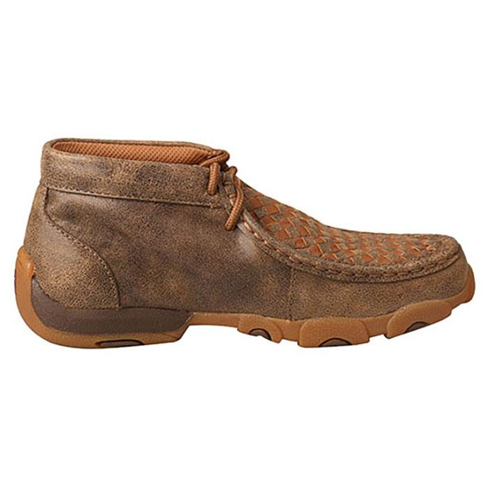 Style YDM0030 Youth Twisted X Bomber//Tan Basketweave Driving Mocs