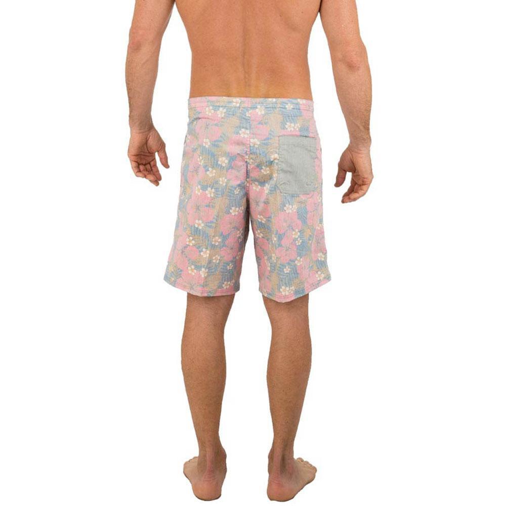 3be0a79837 Uzzi Men's Dry Fast Hawaiian Print Board Shorts