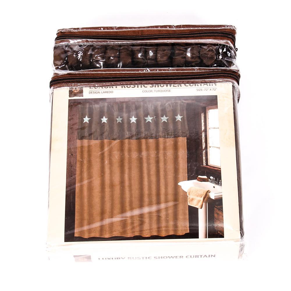 laredo luxury rustic shower curtain set