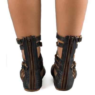 BedStu Women's Black Seneca Sandal