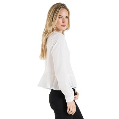 Bella Dahl Women's Button Back Peplum Top