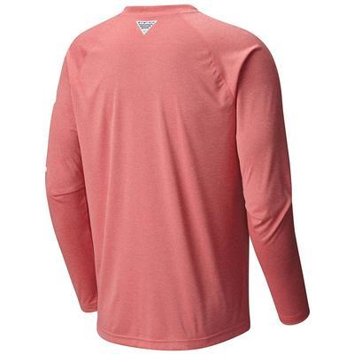 Columbia Men's Long Sleeve Terminal Tackle PFG Hooks Heather Shirt