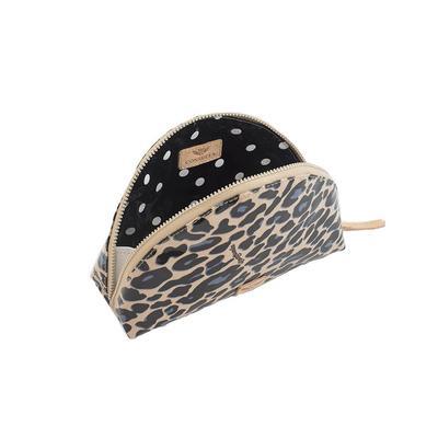 Consuela Legancy Blue Jag Dome Cosmetic Bag