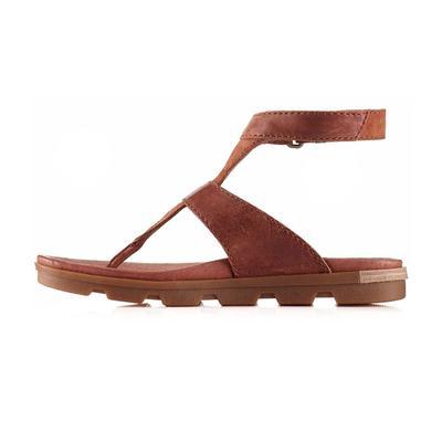 Sorel Women S Torpeda Rustic Brown Ankle Strap Sandals
